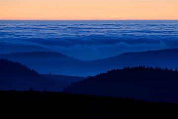 fließende Wolken... Sonnenuntergang *Vogesen* von wunderbare Erde