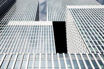 Het gebouw De Rotterdam, in Rotterdam van