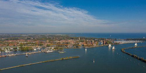Panorama foto van Enkhuizen. van