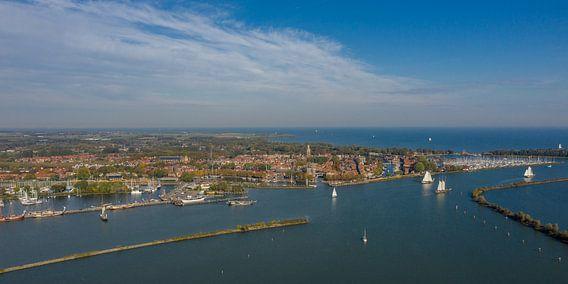 Panorama foto van Enkhuizen.