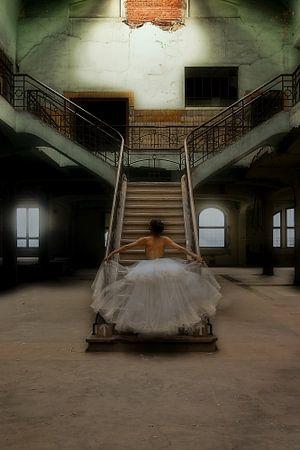 Stairway to Heaven (nude / naakt) van Kees de Knegt