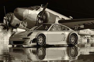 S/W Foto eines Porsche 911 GT 3 RS der ultimative Sportwagen von Jan Keteleer