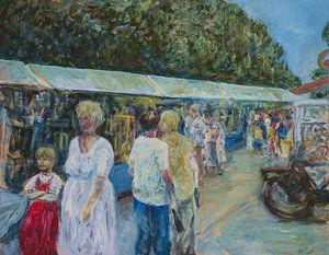 Kunstmarkt Schildersdorp Bergen. van Paul Nieuwendijk