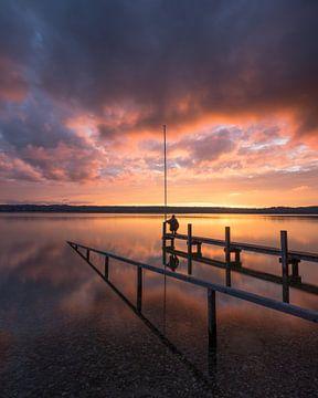 Brennender Himmel am Starnberger See von Jürgen Rockmann