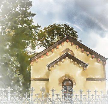 Chapelle derrière une clôture sur Frank Heinz