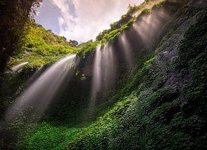 Een waterval op Java van