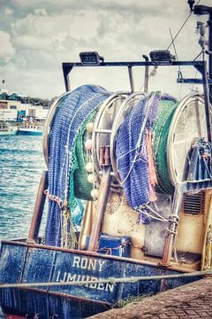 Visnetten trawlerkade IJmuiden van Shirley Douwstra
