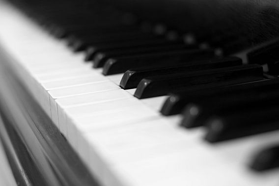 Piano sleutel zwart-wit beeld