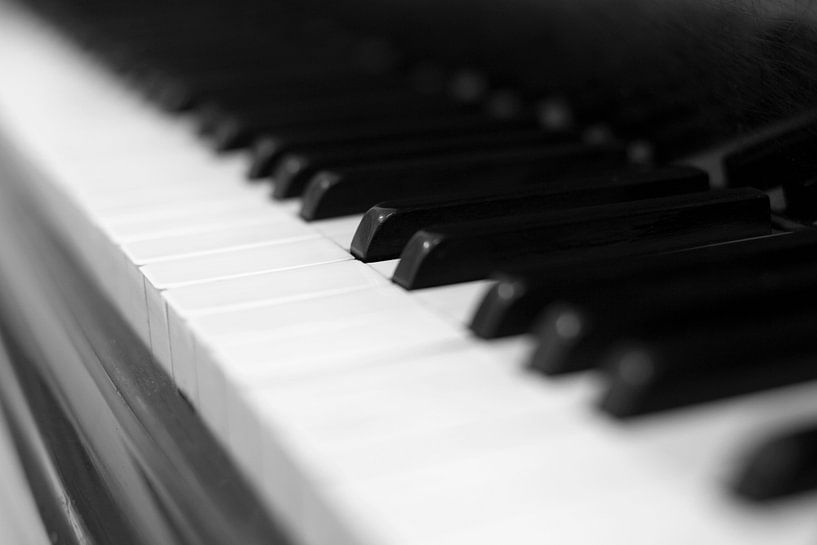 Piano sleutel zwart-wit beeld van Falko Follert