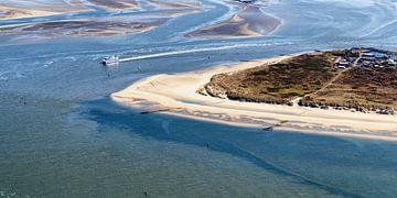 Vlieland Oost vanuit de lucht van Roel Ovinge