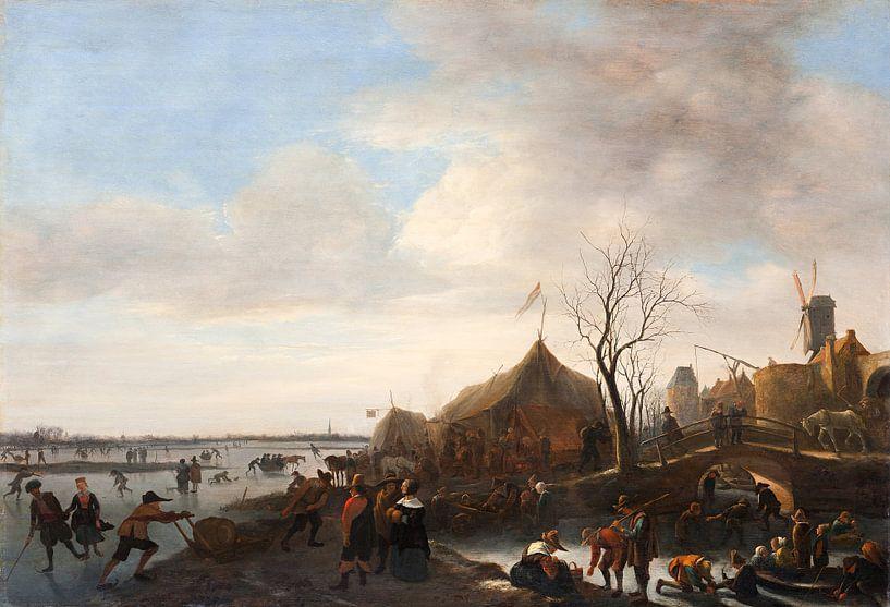 Jan Steen - Winter scene van 1000 Schilderijen