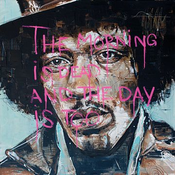 Jimi Hendrix malerei von Jos Hoppenbrouwers