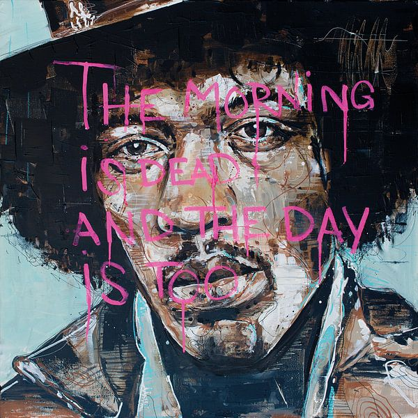 Jimi Hendrix schilderij van Jos Hoppenbrouwers