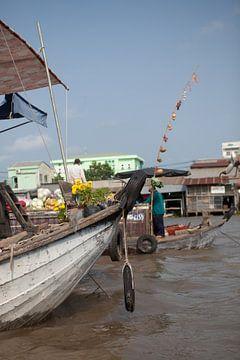 Drijvende markt in Vietnam van t.ART