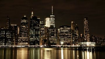 NY Manhattan at night (color)