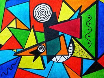 Abstrakt van Gabi Siebenhühner