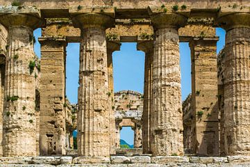 Tempel van Poseidon in Paestum, Italië van Rietje Bulthuis