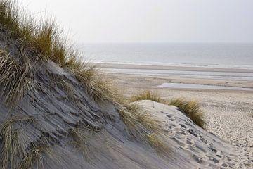 Strand en duinen op Schouwen-Duiveland van Nicolette Vermeulen