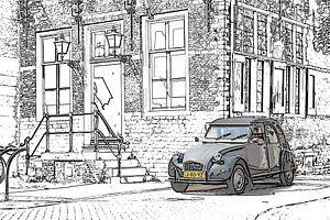 2cv Draw spot color comic stijl van Johan Dingemanse