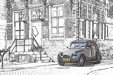 2cv Draw spot color comic stijl von Johan Dingemanse