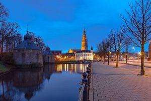 Blaue Stunde in Breda von Martijn Mureau