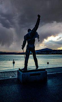 Freddie Mercury Queen Genfer See Montreux von Evelien van der Horst