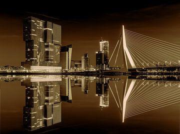 Erasmusbrücke - Nieuwe Maas, Rotterdam von Bas Meelker