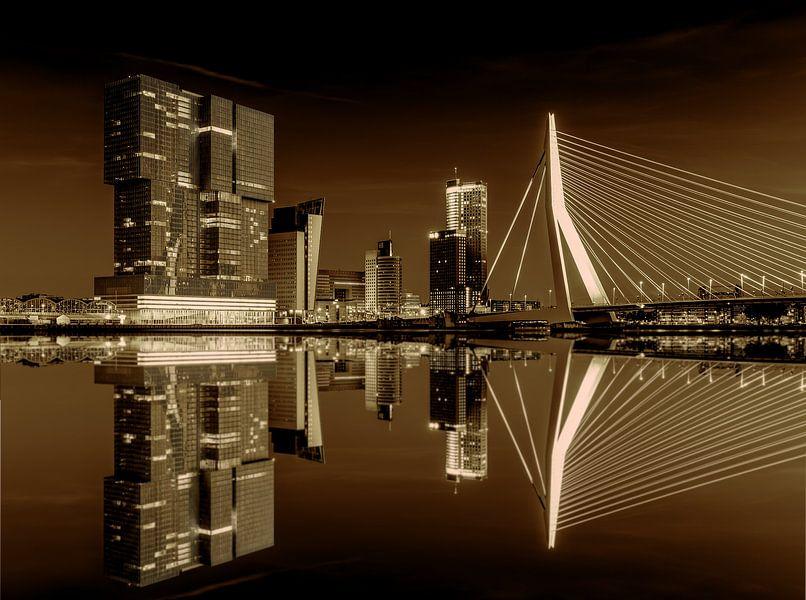 Erasmusbrug - Nieuwe Maas, Rotterdam van Bas Meelker