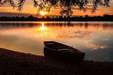 Bateau à rames sur le lac