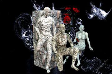 3D-Illustration. Erstarrte Menschen. von Norbert Barthelmess