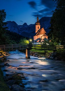 Sint Sebastiaan kerk, Alpen Duitsland van Bob Slagter
