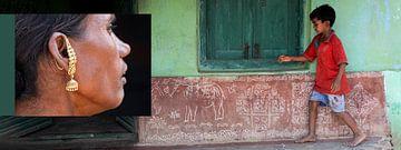 Paneel spelend kind Odisha van Affect Fotografie