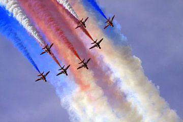 Red Arrows vliegshow van Jolanta Mayerberg