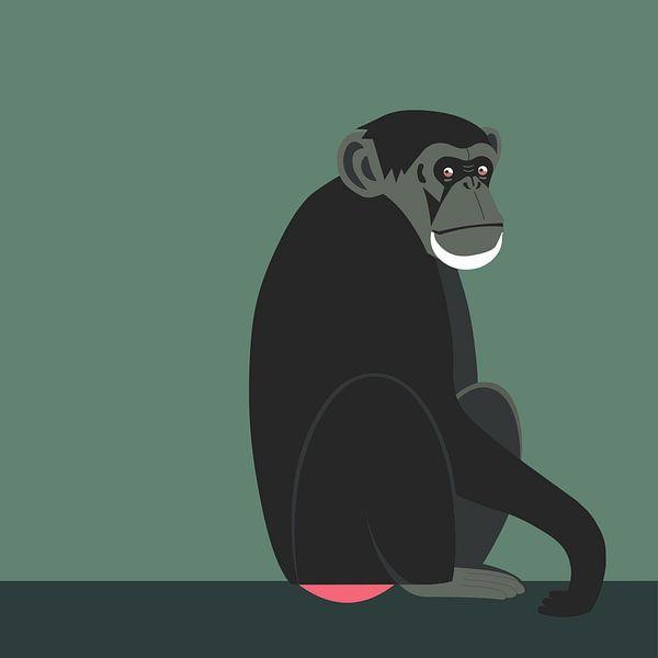 Schimpanse von Studio Mattie