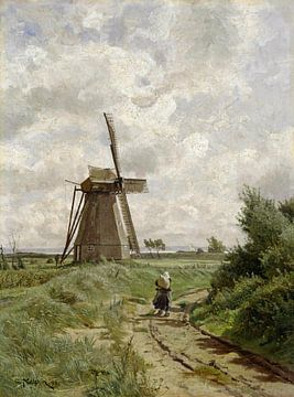 Windmühle bei Ahrenshoop, Carl Malchin