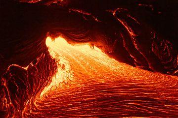 Coulée de lave sur Hawaii sur Ralf Lehmann