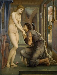 Edward Burne-Jones - Pygmalion en het Beeld - De ziel bereikt van