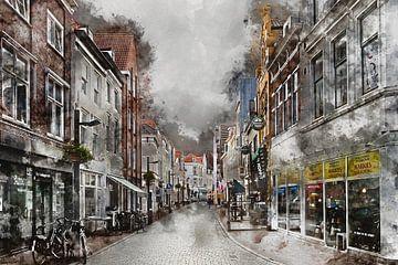 Walstraat in Vlissingen (Zeeland) (Kunstwerk) von Art by Jeronimo