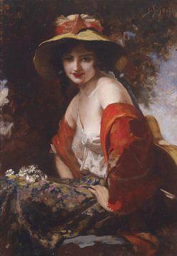 Blumenmädchen, Leopold Schmutzler von Atelier Liesjes