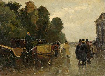 Kutschen und wartende Kutscher, Willem de Zwart