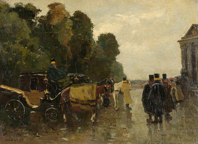 Kutschen und wartende Kutscher, Willem de Zwart von Meesterlijcke Meesters