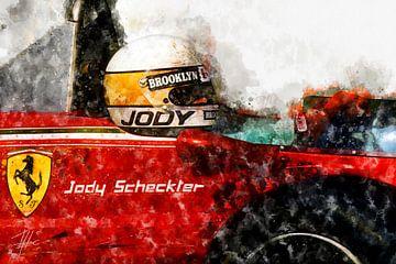 Jody Scheckter, Ferrari Close von Theodor Decker