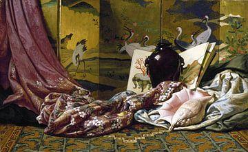 Stilleven uit Japan, Elihu Vedder, 1879 van Atelier Liesjes