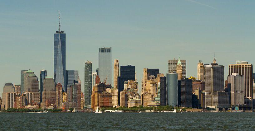New York: Panorama Manhattan skyline van Dirk Jan Kralt