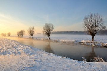 Schilderachtig winterlandschap in Nederland van Ruud Morijn