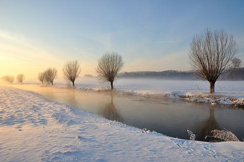 Malerische Winterlandschaft in den Niederlanden