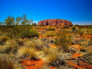 Uluru, de heilige rots in de Outback van Australie van Rietje Bulthuis