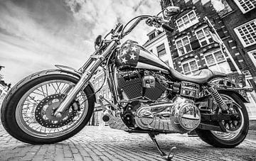 """Custom """"Motor"""" in Utrecht (Zwart-wit) van Kaj Hendriks"""