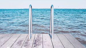 Badetreppe an der Ostsee