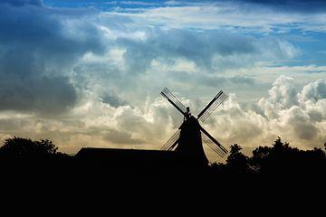Hollandse landschap met molen van Jan Brons